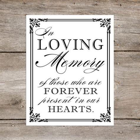 in loving memory wedding sign printable diy in loving memory wedding table printable remembrance sign 8 x 10 or 5 x 7