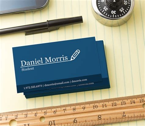 College Student Business Card