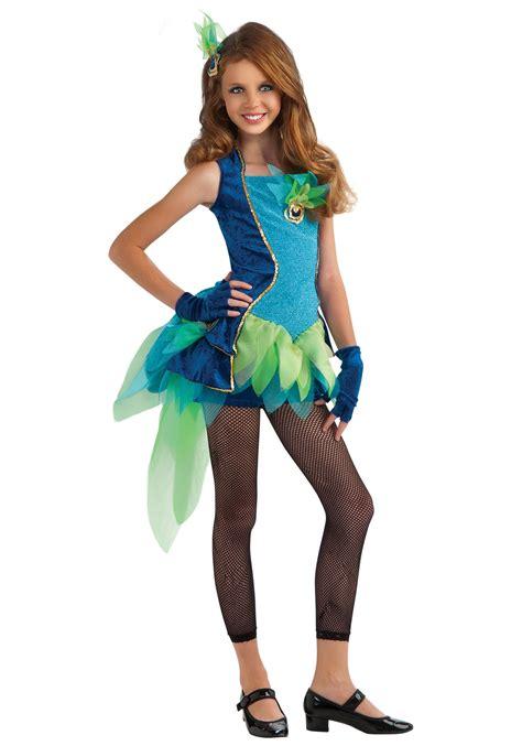 sexy tween tween peacock costume