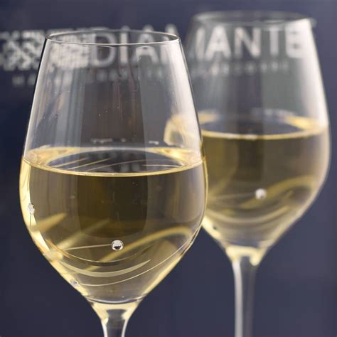 wine glass personalised wine glass set with swarovski elements pair