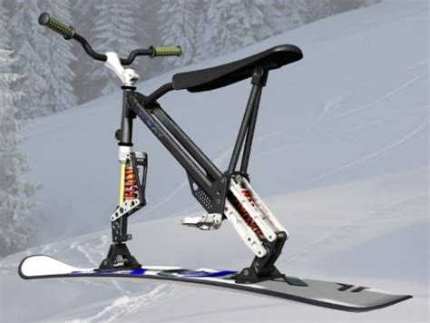 Best Bathroom Designs omo ski bike combines the features of a snowboard and a