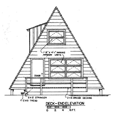 Frame House Plans by Free A Frame House Plan With Deck