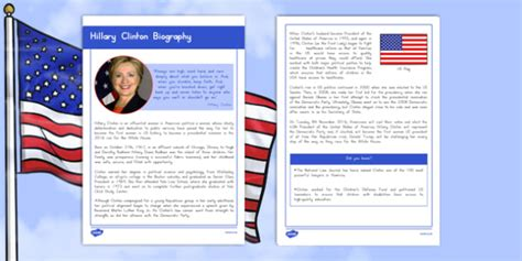 hillary clinton biography ppt hillary clinton biography fact file
