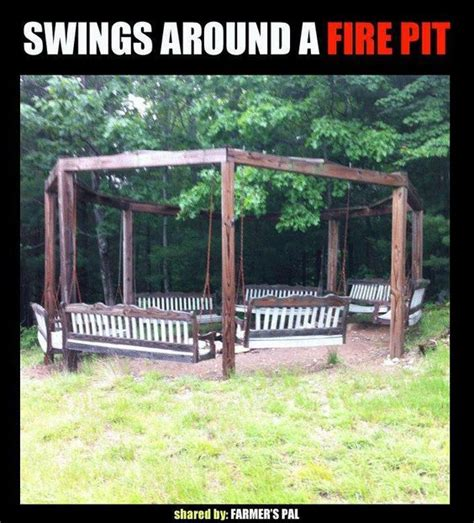 Swings Around A Firepit Home Pinterest Fire Pits I Swings Around Firepit