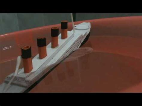 How To Make The Titanic Out Of Paper - titanic paper model sinking