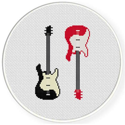 house pattern guitar charts club members only electric guitar cross stitch