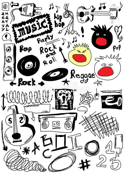 musical doodle free mp3 doodle stock photo image 31085760