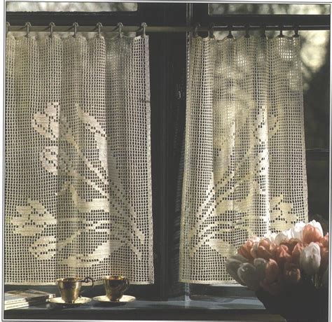 free crochet patterns for curtains free crochet window curtain patterns window treatments