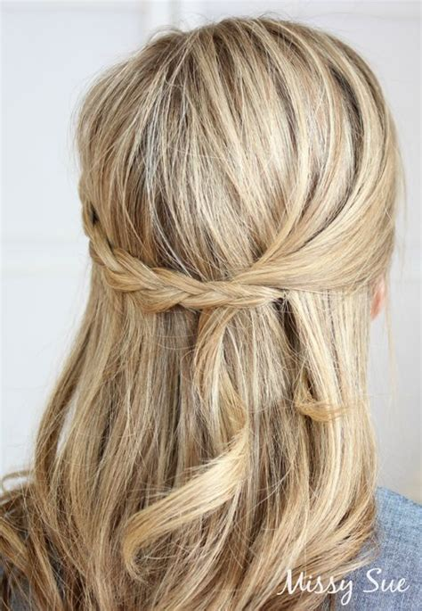 half up half down hairstyles thin hair 20 trendy half braided hairstyles