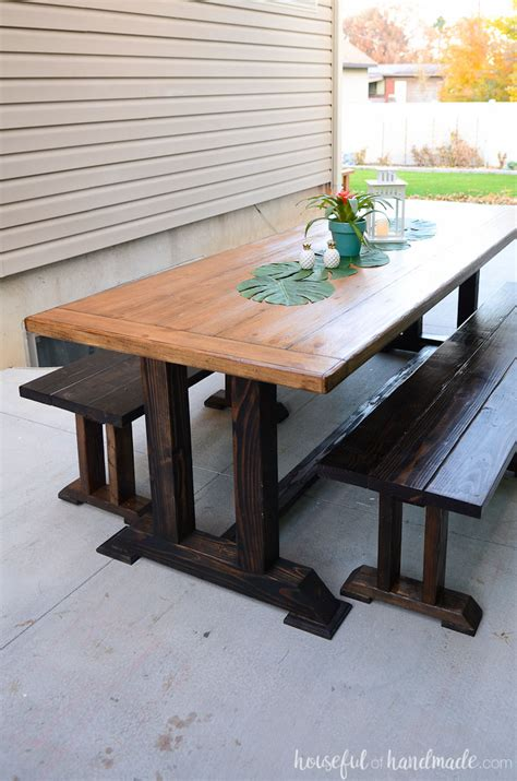 Outdoor Dining Tables For 10 Outdoor Dining Table Plans A Houseful Of Handmade