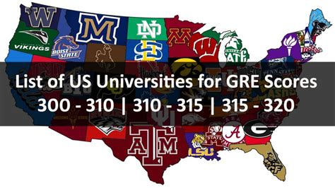 320 Gre Mba by Top Us Universities For Gre Score 300 To 320 Us