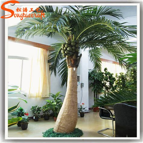 plastic artificial coconut palm tree  home decoration