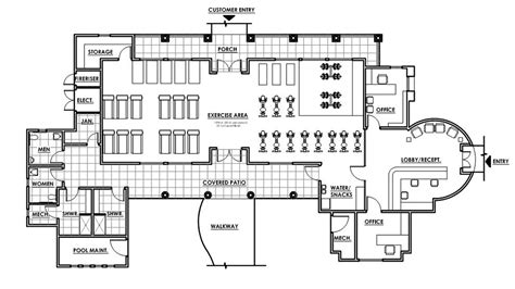 fitness center floor plan nrm architectural impression llc