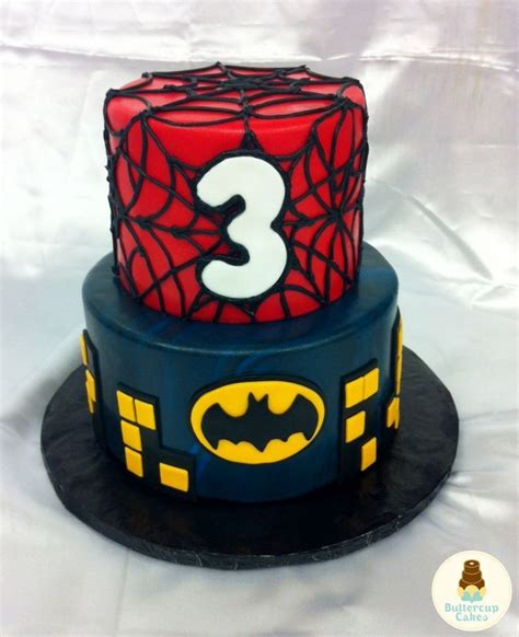 Spiderman And Batman Cake Spiderman Batman  Ee  Birthday Ee   Cake