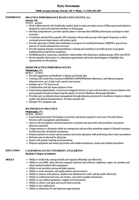Practice Resume by Rn Practice Resume Sles Velvet