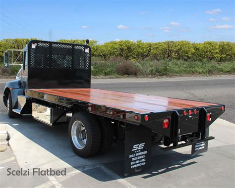 flat bed trucks scelzi flatbed truck bodies