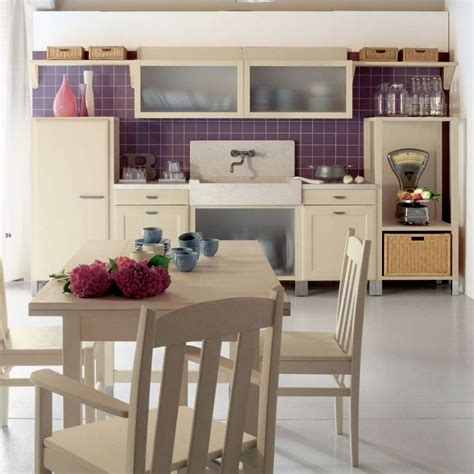 Purple Kitchen Design by Purple Tile Accents In Country Kitchen Design Olpos Design