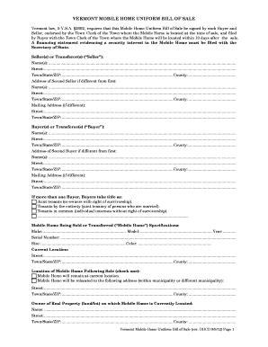 boat bill of sale vermont vermont mobile home uniform bill of sale form templates