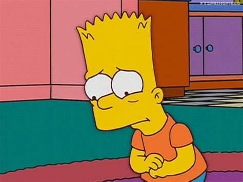 imagenes sad simpsons sad the simpsons gif find share on giphy