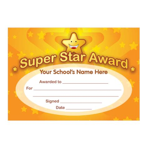 printable gold star certificate super star award certificates stickers for teachers
