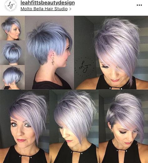 short front and long back grey hair style 16 best images about short hair porn on pinterest cute