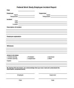 Free Sample Incident Report Form Templates Sample Employee Incident Report Template 10 Free