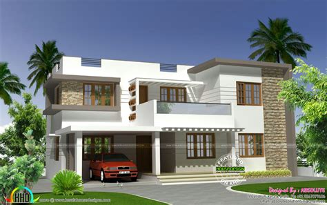 4bhk house 2250 sq ft modern flat roof 4bhk home kerala home design