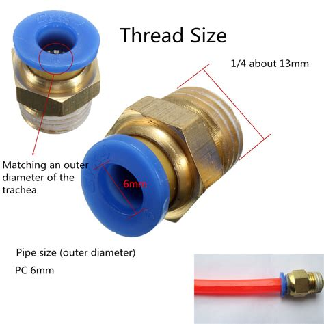 Fitting Connector Pcf 6 02 6mm 14inch 4pcs bsp 1 4 6mm push in fitting pneumatic pu hose connectors lazada malaysia