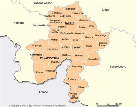 info namur belgique carte