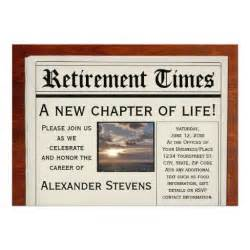 retirement newspaper invitation 5 quot x 7 quot invitation card zazzle