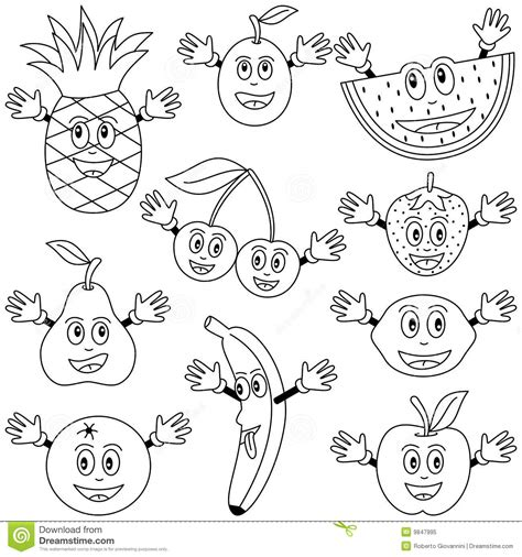 coloring books for fruits w for watermelon fruit coloring pages drawing