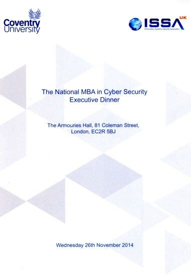 National Security Executive Mba by Tc Tb Event Catering Coventry