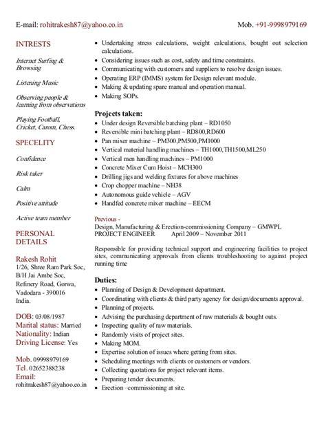 curriculum vitae of mechanical design engineer cv of mechanical design engineer