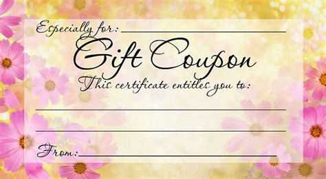 template for coupons the size of gift cards diy free printable gift coupon give a gift from the
