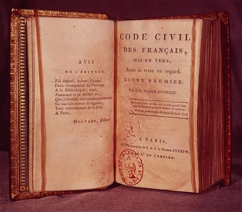 the code napoleon or the civil code literally translated from the original and official edition published at in 1804 classic reprint books chapter 19 timeline preceden