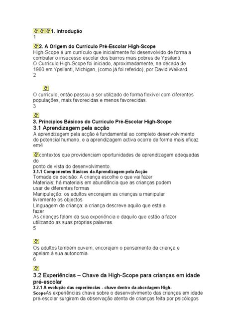 Modelo Curriculum High Scope Modelo Curricular High Scope