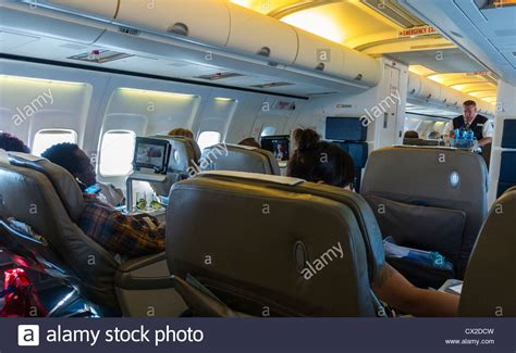 Section Class Html by Newark Nj Usa Steward Working Onboard Airways Flight Stock Photo Royalty Free Image