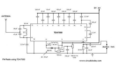 fm radio receiver circuit diagram pdf single chip fm radio circuit with diagram using tda 7000 ic