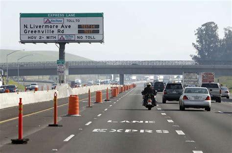 express road new express lanes on i 580 signal freeway revolution san