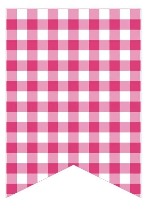 printable gingham banner pink gingham bunting pinterest pink gingham gingham