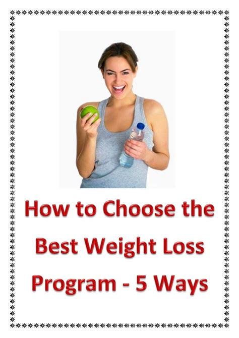 best weight loss program how to choose the best weight loss program 5 ways