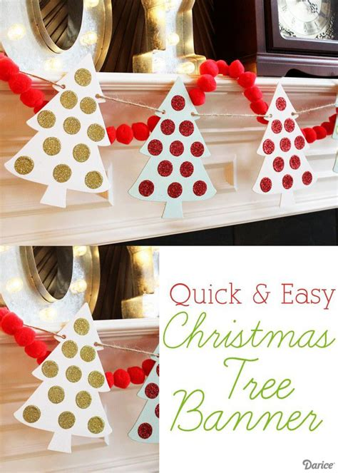 diy christmas banner quick  easy tutorial darice christmas ideas diy christmas