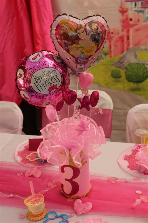 disney princess decorations centerpieces handmade princess pink set 3 princess