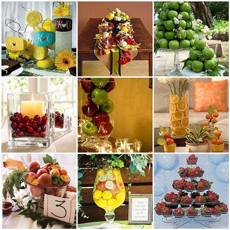fruit centerpieces for tables unique fruit and veggie wedding centerpieces