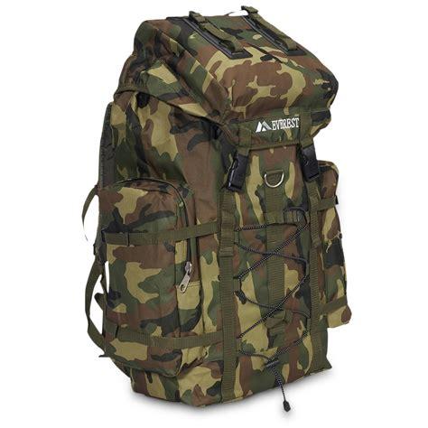 camo pack jungle camo hiking pack everest bag