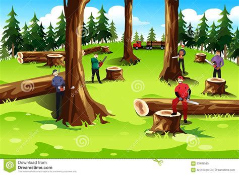 Which Biome Is Logging Hardwood Trees - illegal logging clipart 5 clipart station
