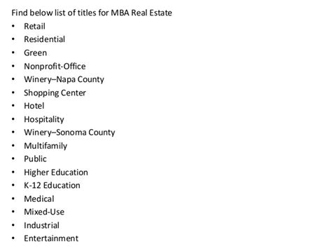 Do I List Professors Mba On Running Title Page by Project Report Titles For Mba In Real Estate