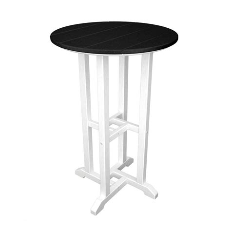 X Bar Table Shop Polywood Contempo 24 In W X 24 In L Plastic Bar Table At Lowes