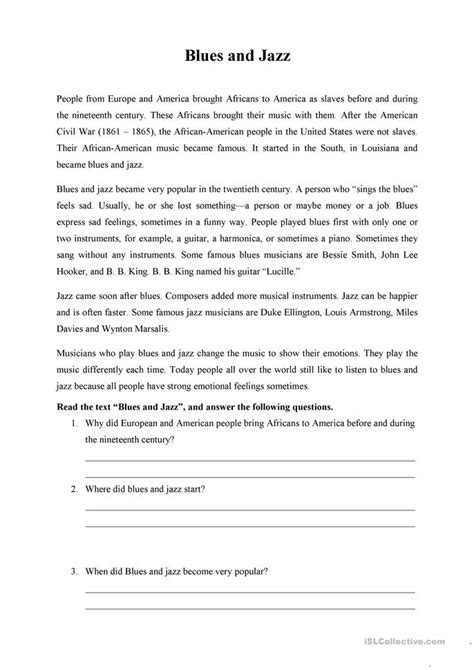 all worksheets 187 jazz history worksheets printable