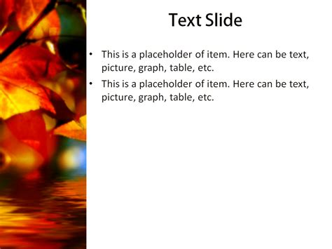 Free Autumn Leaves Powerpoint Template Presentation Slide Free Autumn Powerpoint Templates